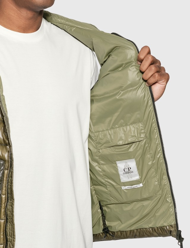CP Company Down Vest Martini Olive Men