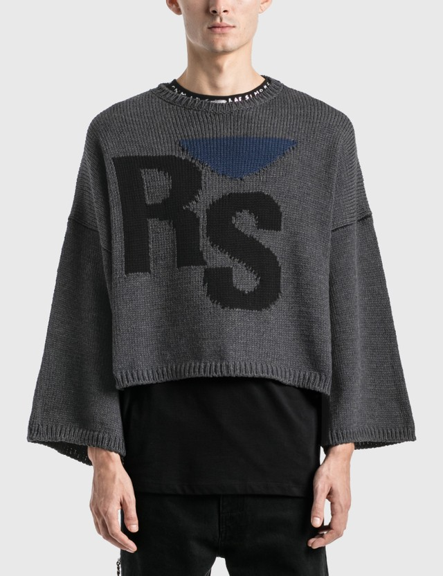 Raf Simons Oversized Rs Sweater Grey Men