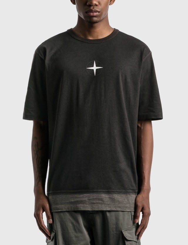Stone Island Stone Island Compass Logo T-Shirt Nero Men
