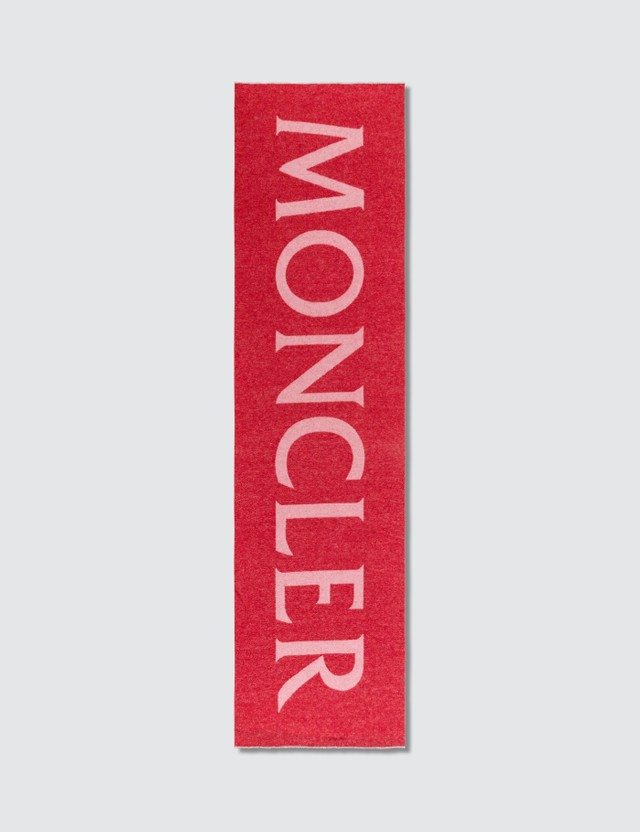 Moncler Wool Jacquard Scarf With Large Logo