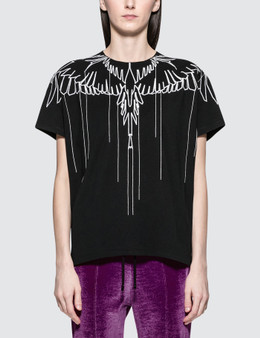Marcelo Burlon Stitching Wings Short Sleeve T-shirt