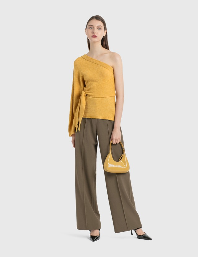 BY FAR Baby Amber Yellow Semi Patent Leather Bag Yellow Yw Women
