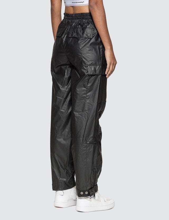 Alexander Wang Chynatown Pleather Nylon Track Pants Black Women