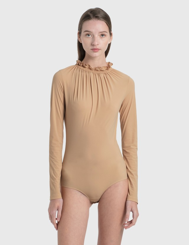 MM6 Maison Margiela Lycra Bodysuit Nude Women