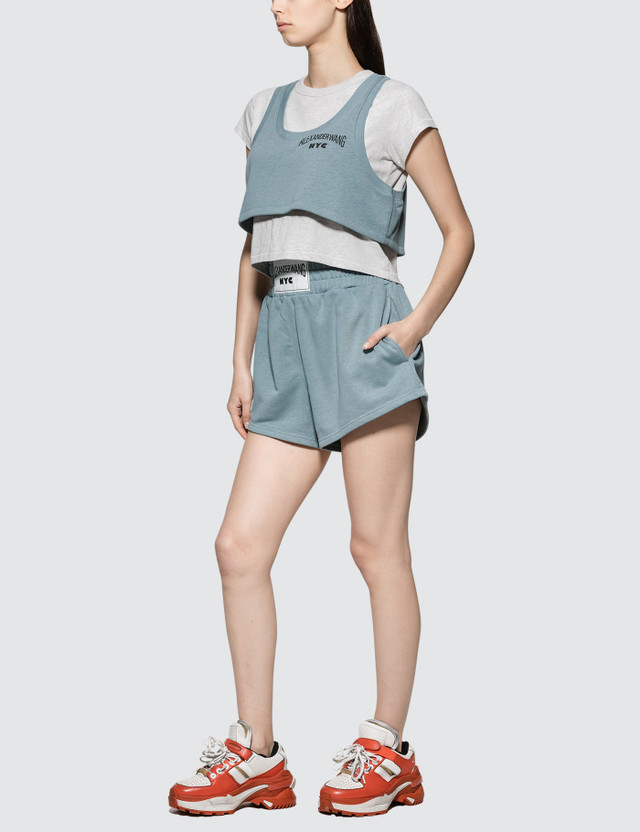 2231a2c94548d Alexander Wang.T - Lightweight Terry Bi-layer Short Sleeve Crop Top ...