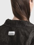 Ganni Washed Denim Jacket Phantom Women
