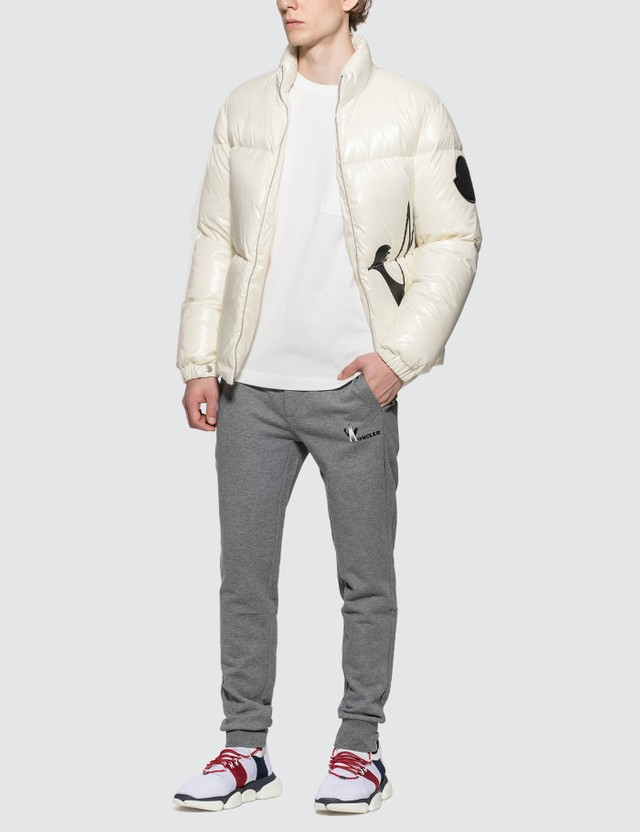 Moncler Nylon Down Jacket with Front Logo