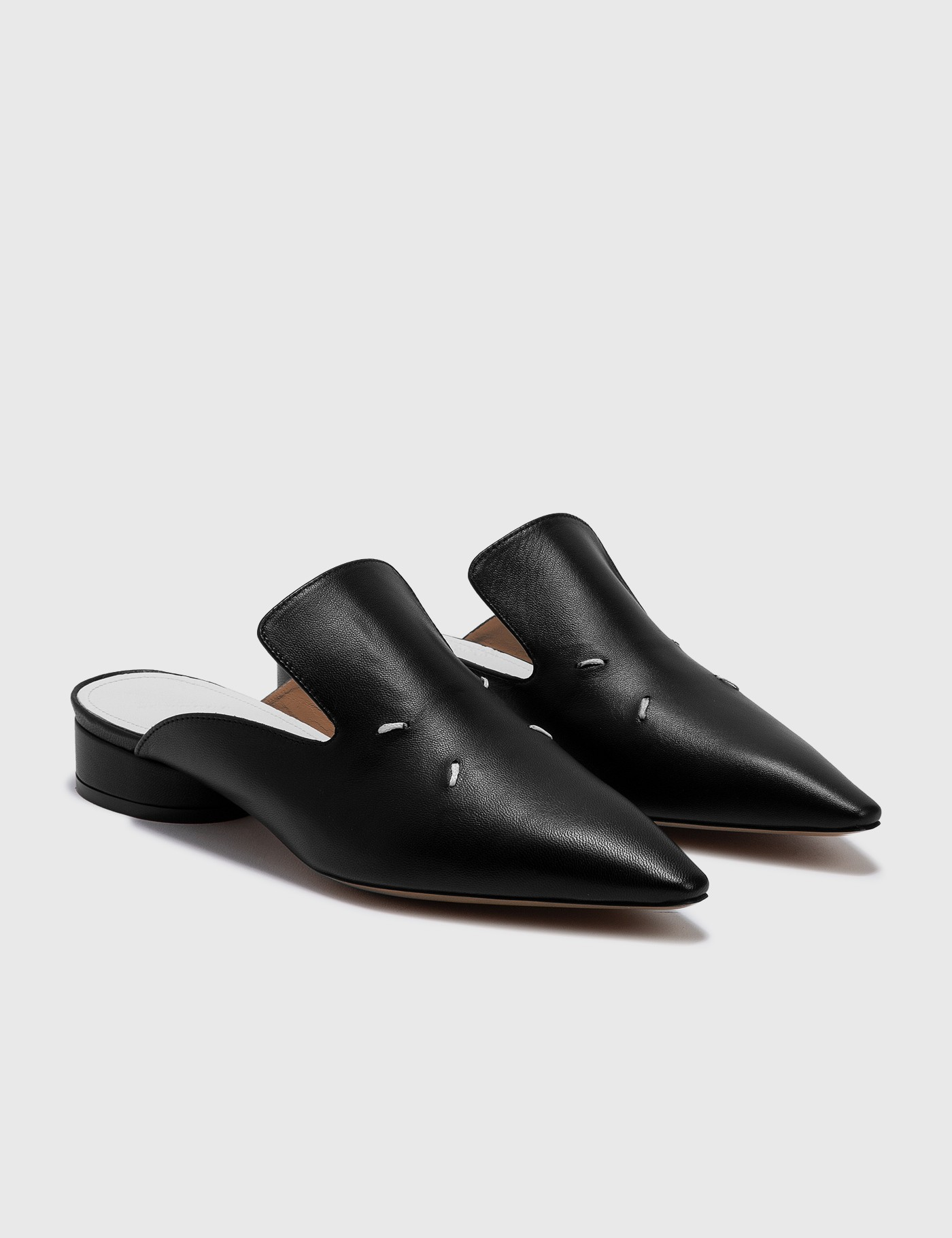 MAISON MARGIELA LEATHER MULES