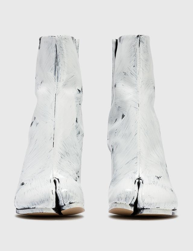 Maison Margiela Tabi Painted Calfskin Ankle Boots