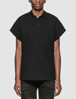 Saint Laurent Polo Shirt With Destroyed Sleeves