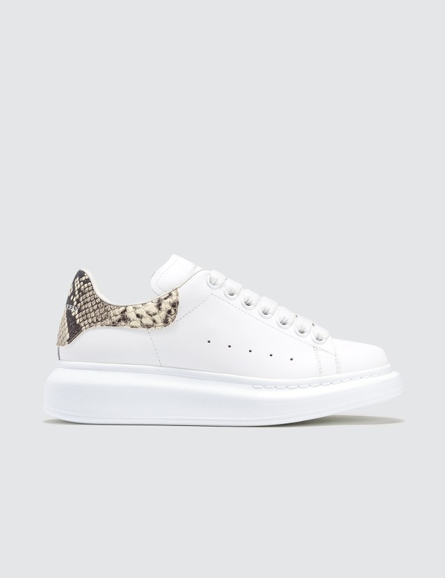 Alexander McQueen Snakeskin Raised-sole Low-top Leather Trainers