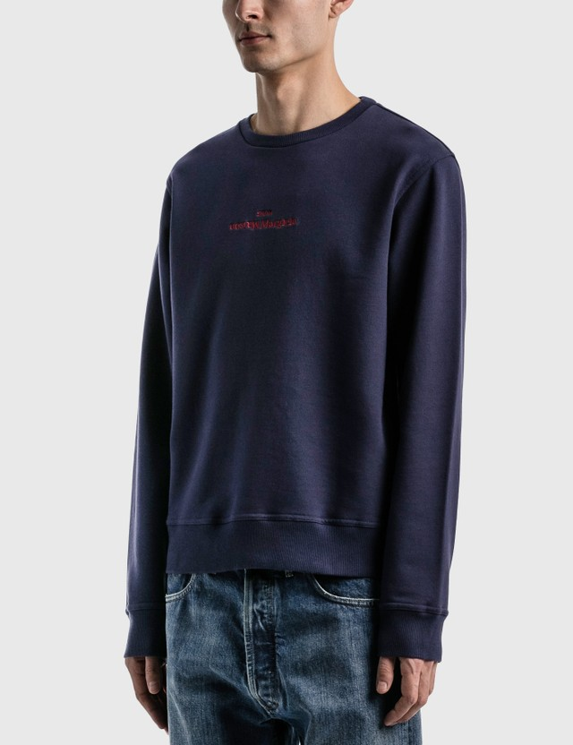 Maison Margiela Embroidered Logo Sweatshirt Indigo Men