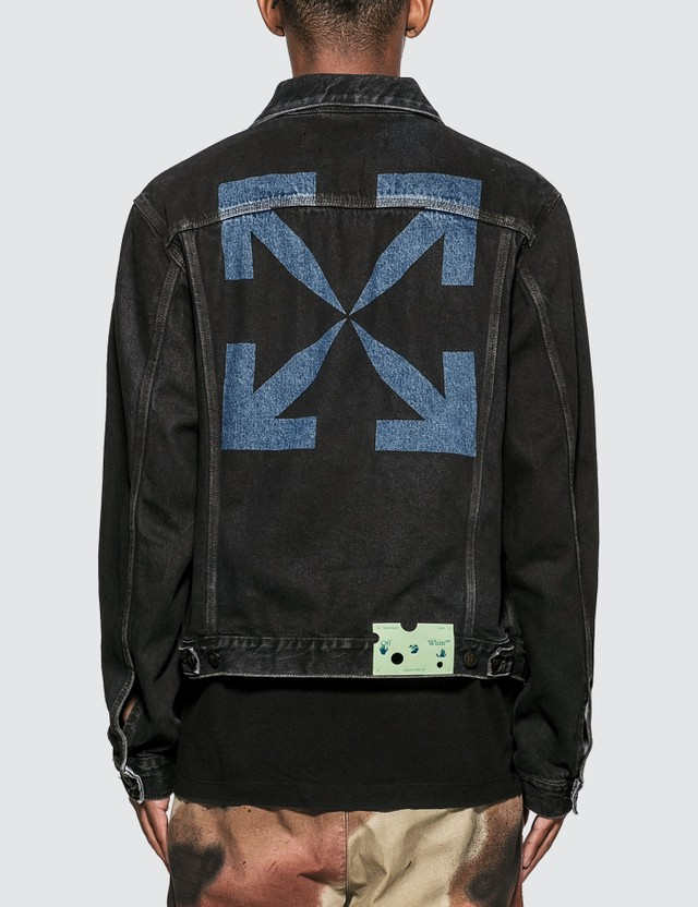 Off-White Stencil Slim Denim Jacket =e77 Men
