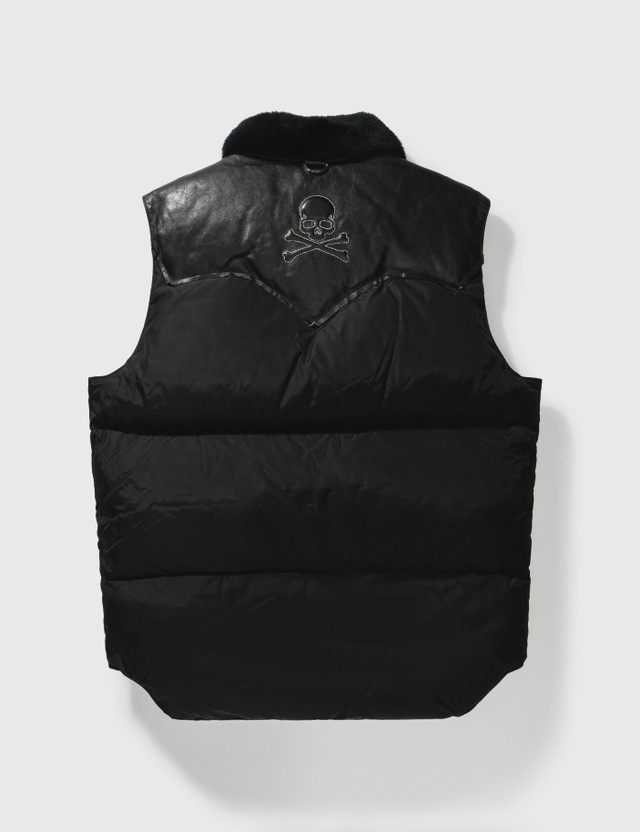 Mastermind Japan Mastermind Japan X Rocky Mountain Down With Leather Vest Black Archives