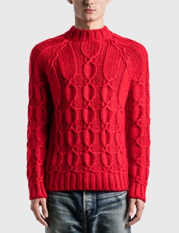 Saint Laurent Cable-Knit Sweater In Wool And Mohair