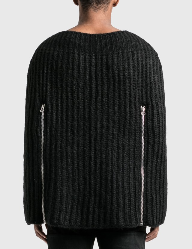 Raf Simons Zipper Sleeves Transformer Cape Black Men