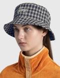 Stussy Basic Plaid Bucket Hat White Women