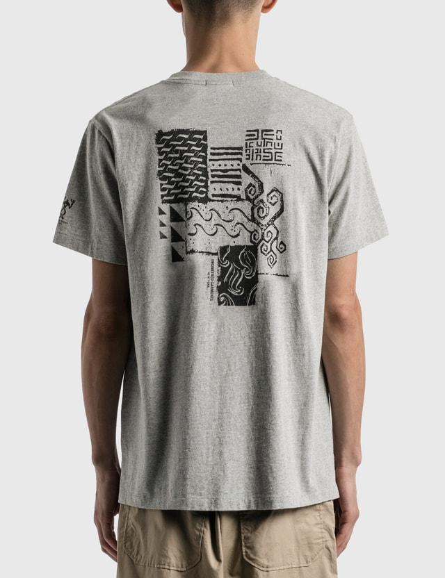 Engineered Garments Printed Cross Crew Neck T-shirt Grey Men