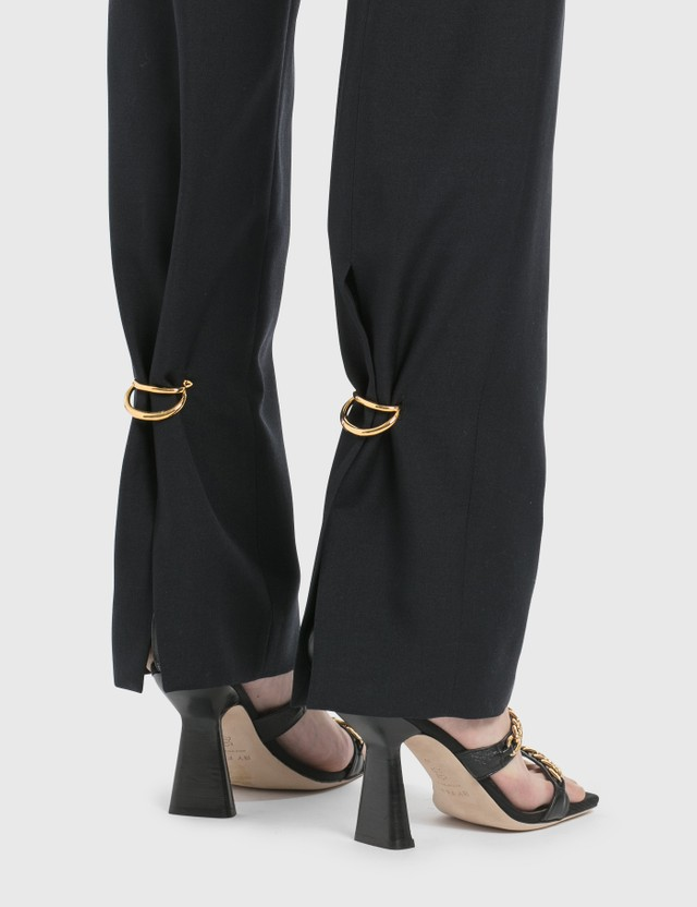 Loewe Ring Trousers Navy Blue Women