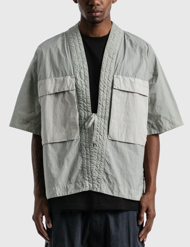 Nemen Short Sleece Cargo Kimono 023 Light Grey Men