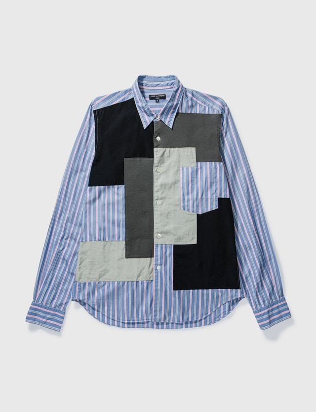 Comme des Garçons HOMME Comme Des Garçons Homme Patchwork Stripe Shirt Blue Archives