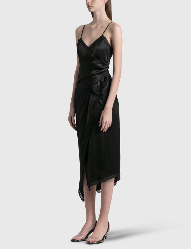 Alexander Wang.T Draped Slip Dress Black Women
