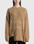 Ambush Patchwork Knit Crewneck Sweater Picutre