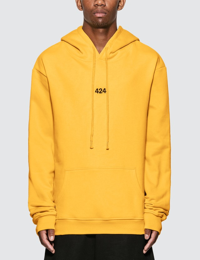 424 424 Logo Hoodie Yellow Men