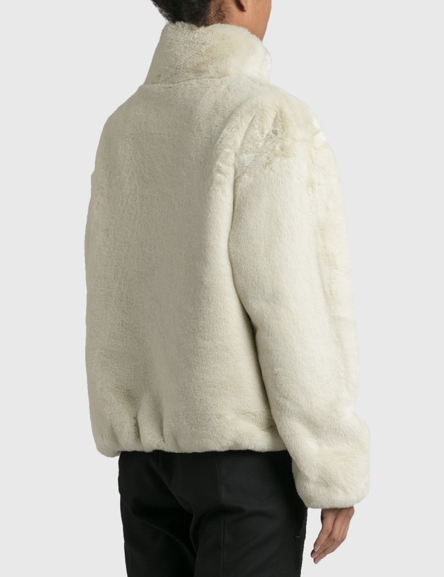 Nike Nike Faux Fur Jacket Fossil/black Women