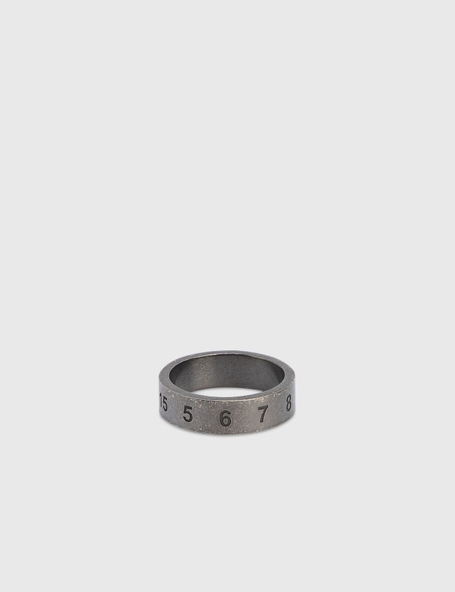 Maison Margiela Numbers Ring Ruteniosemipolished Men