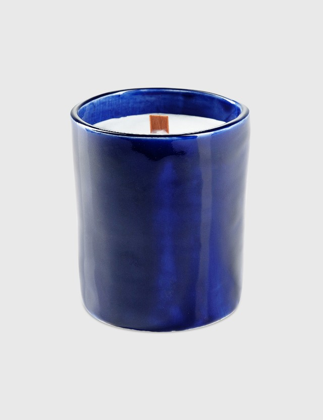 Crosby Studios Gray Candle Collection Ceramic Medium Blue Unisex