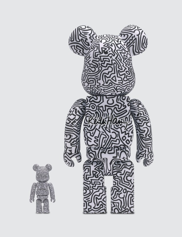 Medicom Toy #4 Limited Edition Keith Haring Be@rbrick 100% & 400% Set