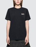 Maison Kitsune Double Fox Patch Short Sleeve T-shirt Picture