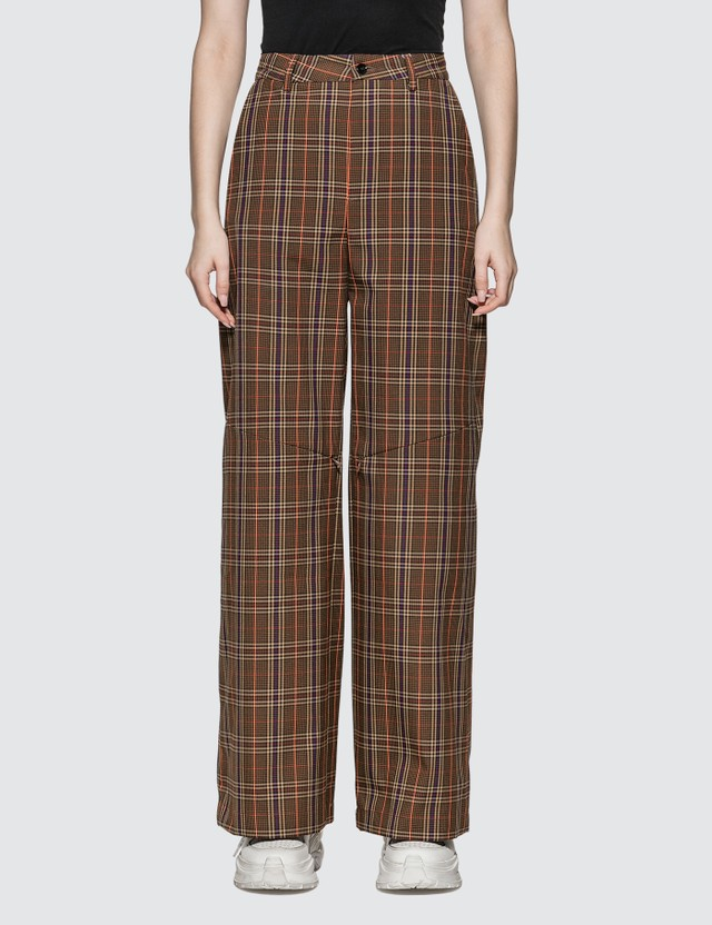 MM6 Maison Margiela Check Wool Pants