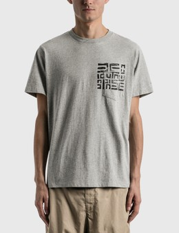 Engineered Garments Printed Cross Crew Neck T-shirt