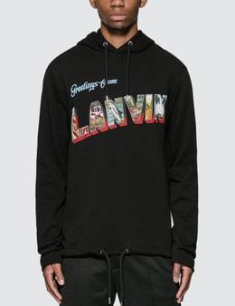 Lanvin Logo Print Hoodie