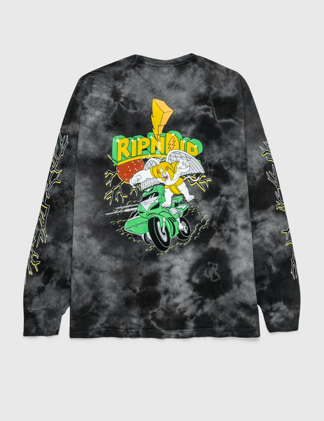 RIPNDIP Power Nerm Long Sleeve T-Shirt Black Lighting Wash Men