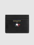 Maison Kitsune Par Rec Tricolor Leather Card Holder Picture