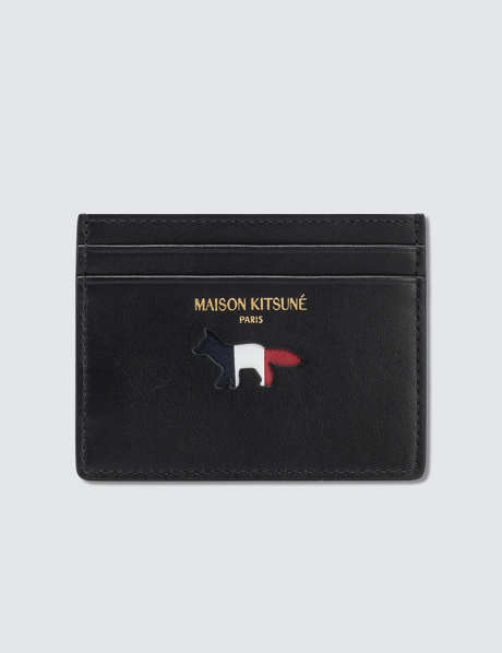 메종 키츠네 Maison Kitsune Par Rec Tricolor Leather Card Holder