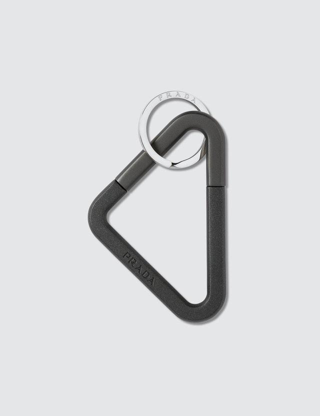 Prada Metal Keychain