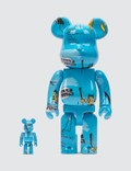 Medicom Toy Jean Michel Basquiat #4 Be@rbrick 400% & 100% Set Picture