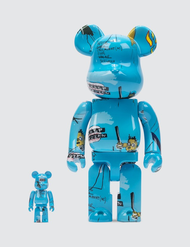 Medicom Toy Jean Michel Basquiat #4 Be@rbrick 400% & 100% Set