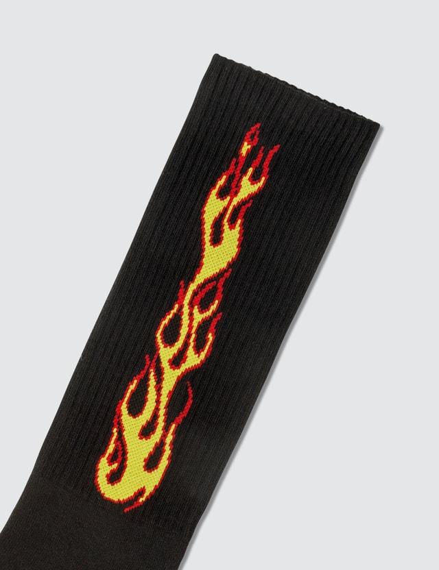 Palm Angels Flames Socks