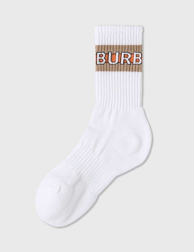 Burberry Logo Intarsia Cotton Blend Socks