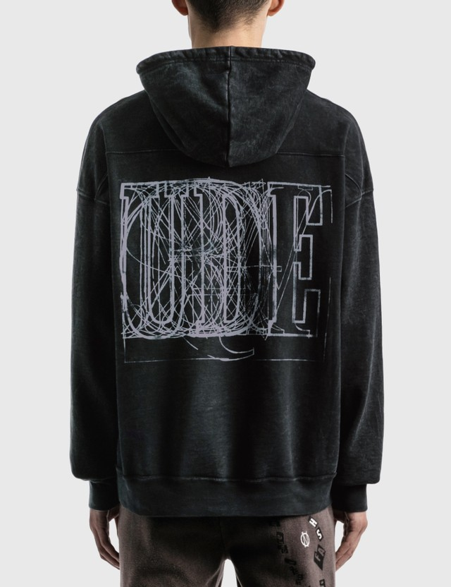 Rhude Logo Graphic Hoodie Black 0015 Men