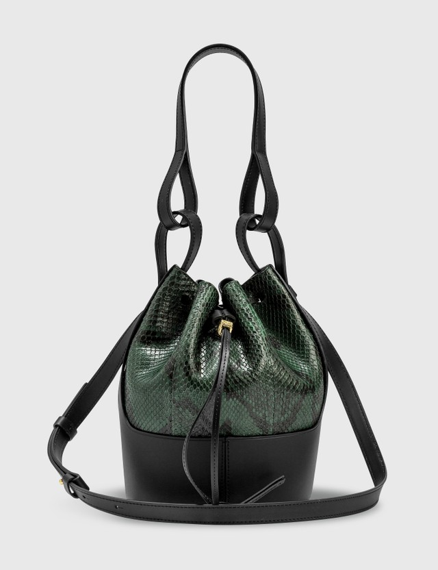 Loewe Balloon Small Bag Emerald Green/black Women