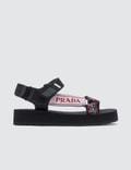Prada Jacquard Logo Sandals Picutre