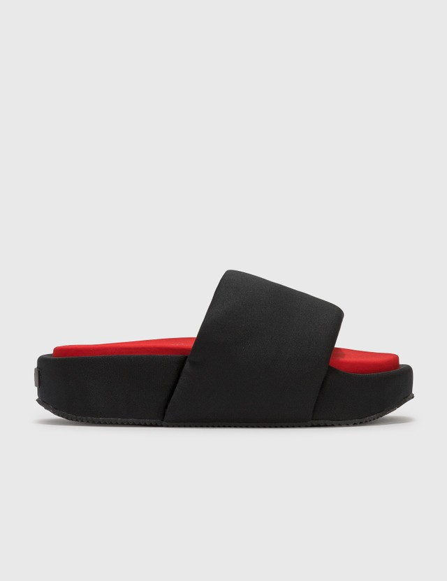 Y-3 Slide Black/black/red Men