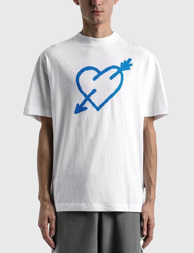 Palm Angels Pierced Heart Classic T-shirt White Men