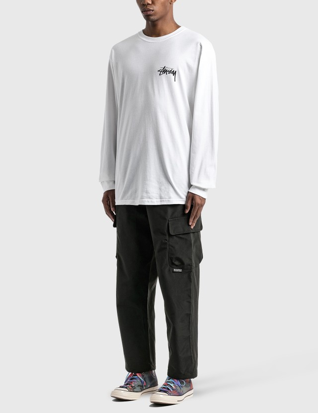 Stussy Peace & Love Long Sleeve T-Shirt White Men
